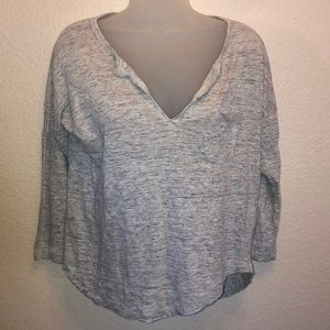 MADEWELL Cotton V Neck Top